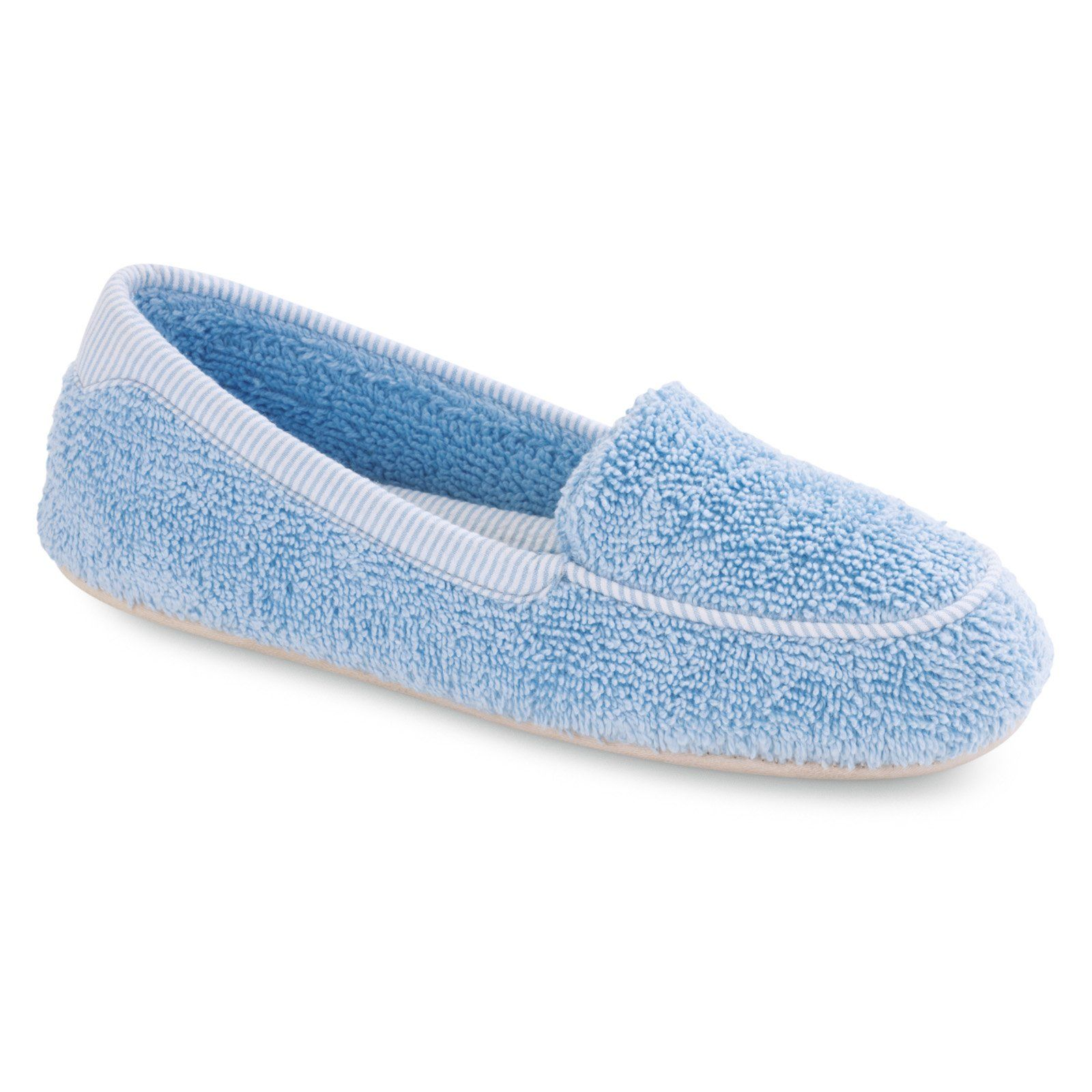 House Have To It Acorn Womens Cotton Terry Moc Slippers Cloud Blue 36 99