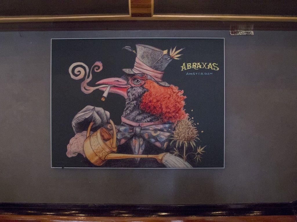 Abraxas Coffeeshop Amsterdam Kunst