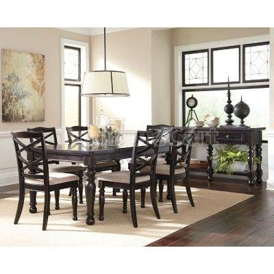 Harlstern Dining Room Set Black Dining Room Table Dining