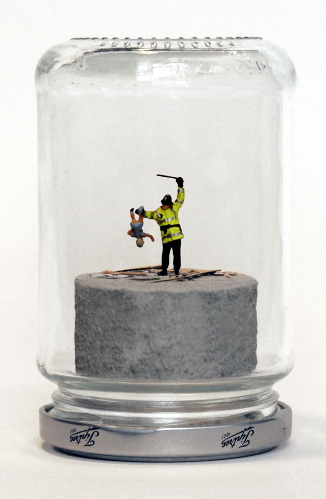 I am kind of obsessed with this Riot in a Jam Jar artist. Miniatures and mania.