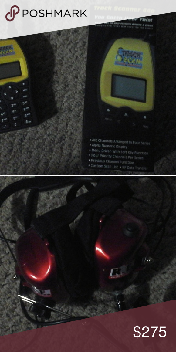 NASCAR scanner and headphones Nascar scanner, Things to