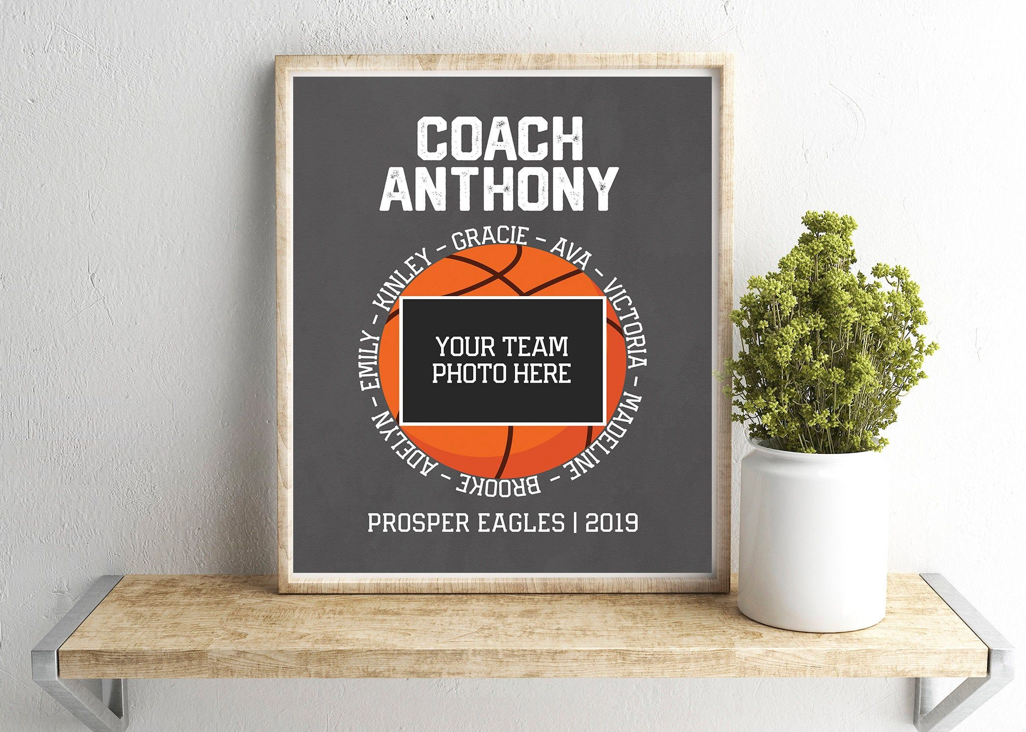 Custom basketball team signature jpeg thank you coach art
