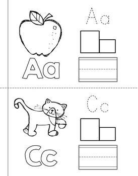 alphabet mini books letter practice for pre k k kindergarten book letters mini books. Black Bedroom Furniture Sets. Home Design Ideas