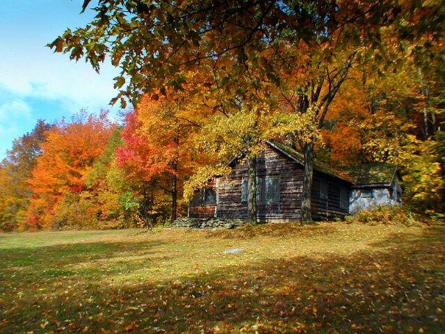 Robert Frost S Cabin Ripton Vermont Fall Travel Autumn Scenery Vermont