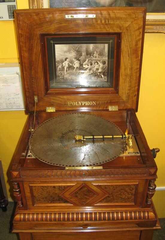 Antique Polyphon Duplex Disc Music Box C 1898