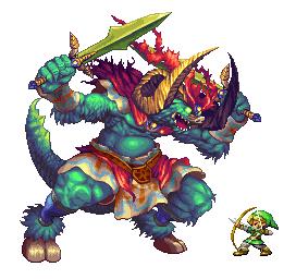Link V Ganondorf By Nayek Pixel Art Art Game Art