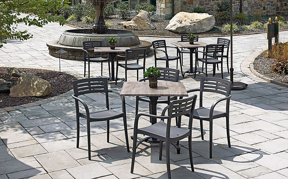 Vogue Resin Contract Patio Chair Patio Dining Furniture