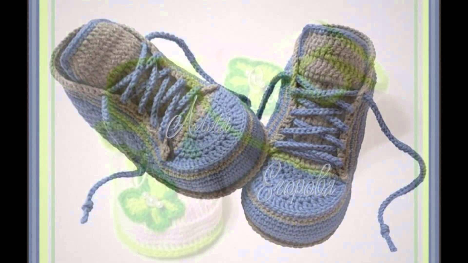 Zapatos para bebe tejido a dos agujas