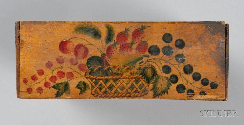 Academy Painted Slide-lid Pencil Box   Sale Number 2412, Lot Number 124   Skinner Auctioneers