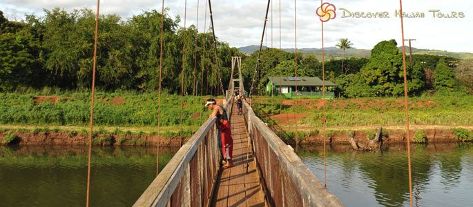 Hanapepe Swinging Bridge Kauai Reconstruction Of This