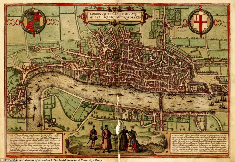 Mapa London%0A Old Street Plan of London Bridge showing both sides of the river Pre Great  fire of London of        A World u    s Story  The UK  u     Ireland    Pinterest    London