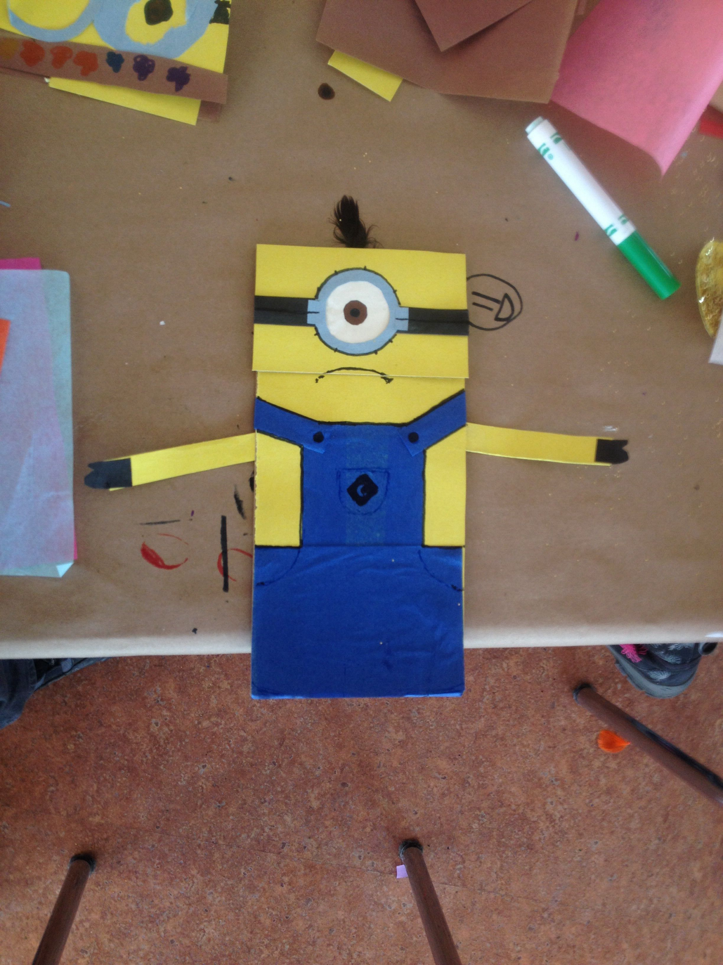 Minion Paper Bag Puppet