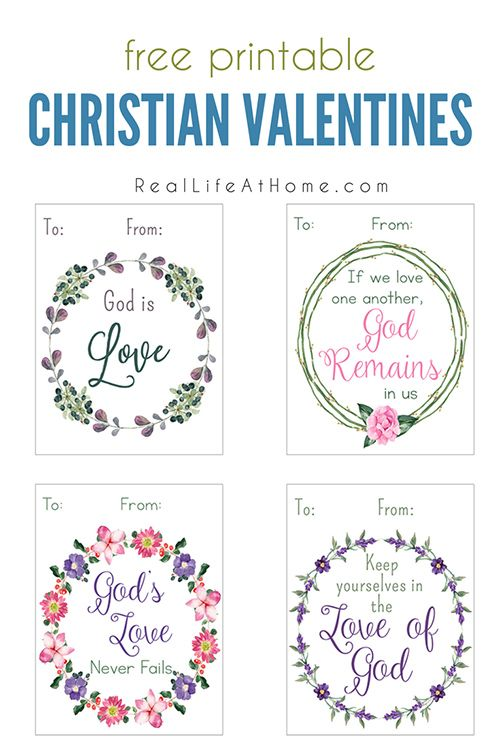 Printable Christian Valentine Cards for Kids – Free Printable Christian Valentine Cards