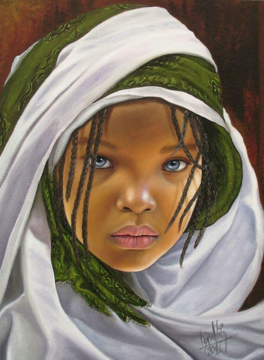 Rostros Para Pintar En Oleo Buscar Con Google Cuadros De Negras Niños De Africa Retratos