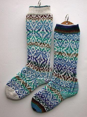 #neuleet #sukat #kirjoneule #socks
