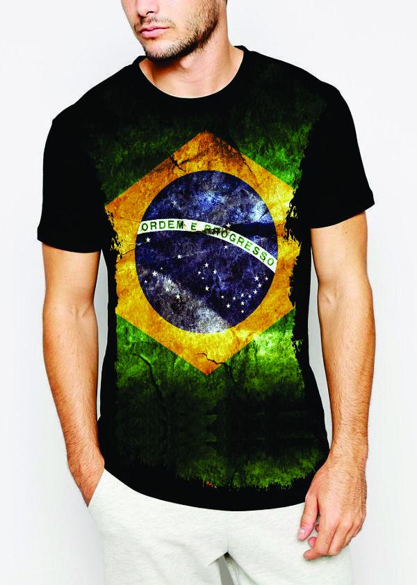 Use Camisetas - A sua loja de Produtos Criativos e Engraçado Camiseta  Brasil Bandeira 86ab40a76b7b5
