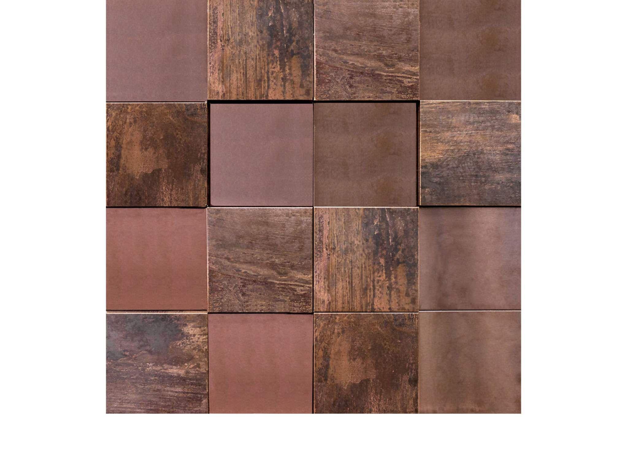 Metal Bronze 3D Cubes   Metal Mosaics - Lantic