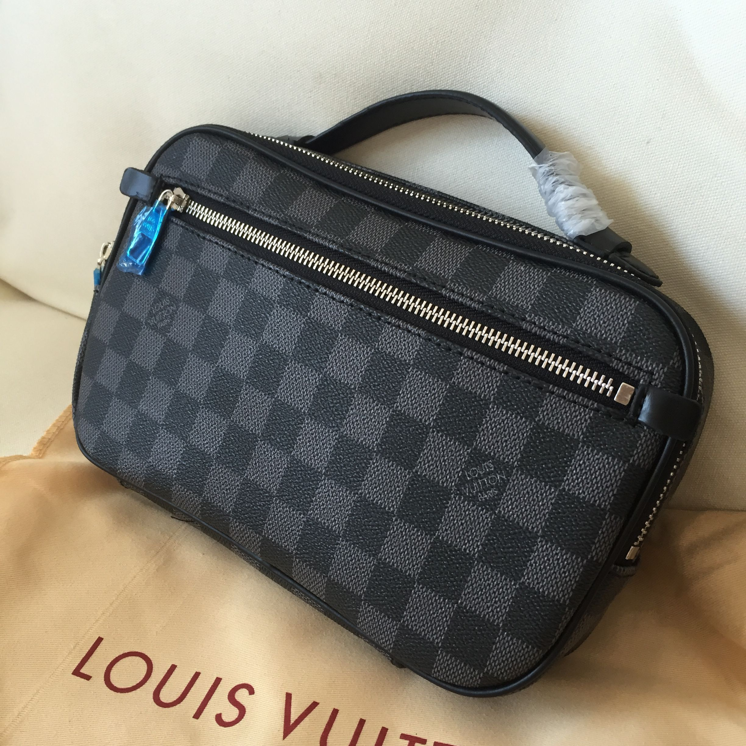 495b373d9009 Louis Vuitton Lv man clutch bag Damier graphite