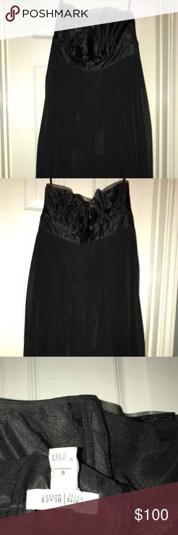 Black semi formal dress white house black market size semi formal