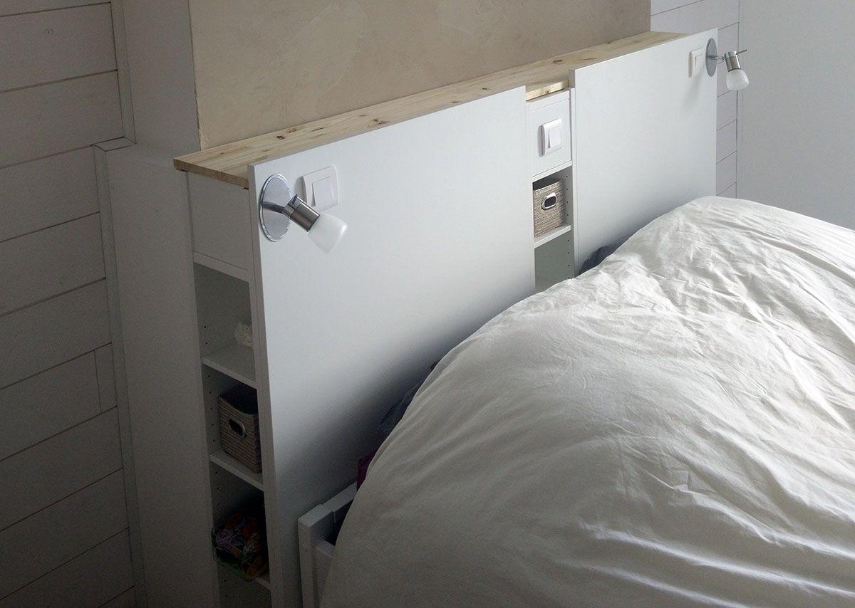 Tete De Lit Ikea Bois magnifique tête de lit ikea avec rangements en diy | tete de