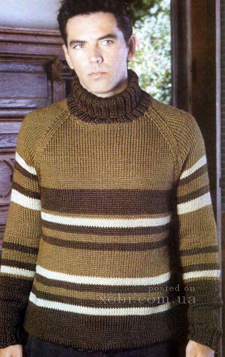 мужской свитер вязаный спицами модель спицами Sweaters Cool