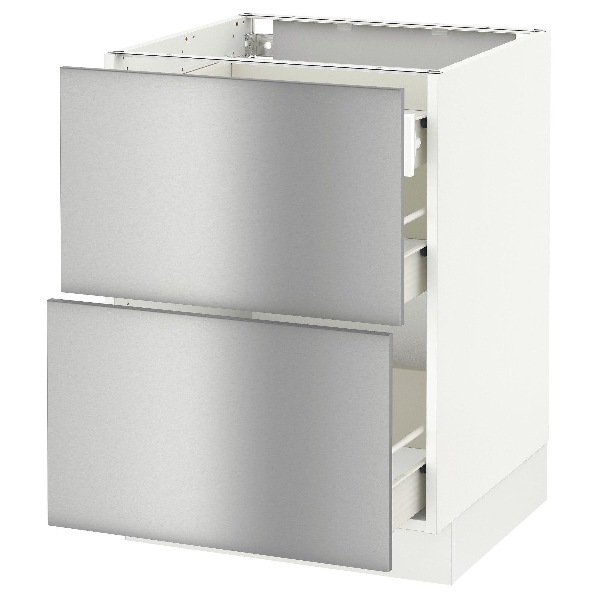 Ikea Sektion Blanc Arm Inf 2 Faces3 Tiroirs Frame Colour