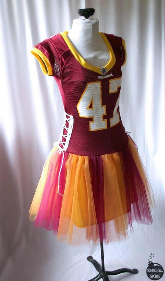 football tutu dress.  Fun! lol I guess I know what I will be making this year :)