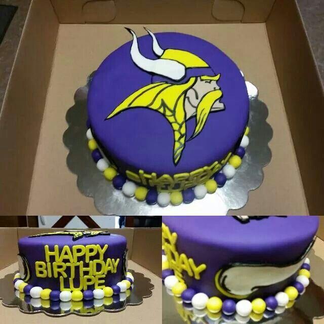 Minnesota Vikings Fondant Cake Myowncakes Pinterest