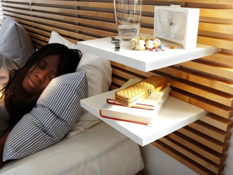 Ikea Mandal Bett Kopfteil Nachttisch Regale Offen Weiss Produkt