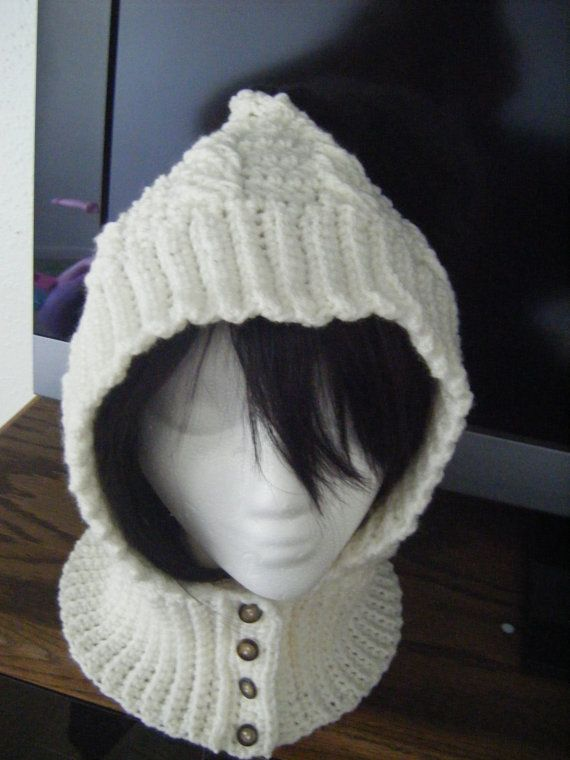 Cables Crochet Hood or Scoodie Hat Scarf Pattern PERMISSION TO SELL ...