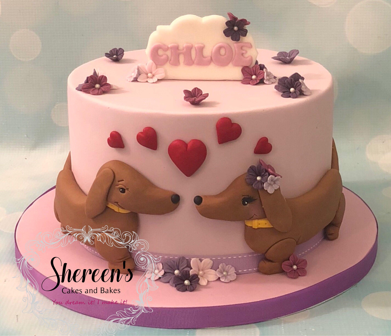 Sausage Dog Daschund Novelty Birthday Cake Shereens Cakes Bakes
