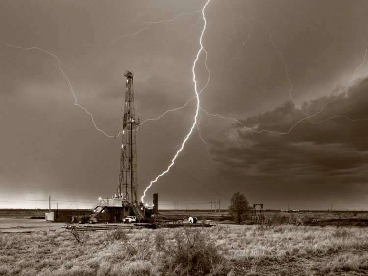 Drilling Rig in Midland Texas, Midland County by Robert