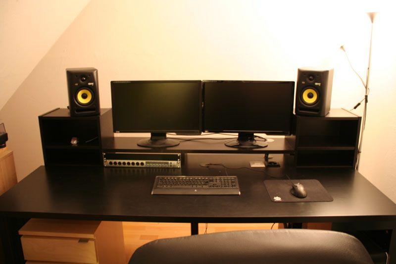 Music producing desk studio studio mobilier de