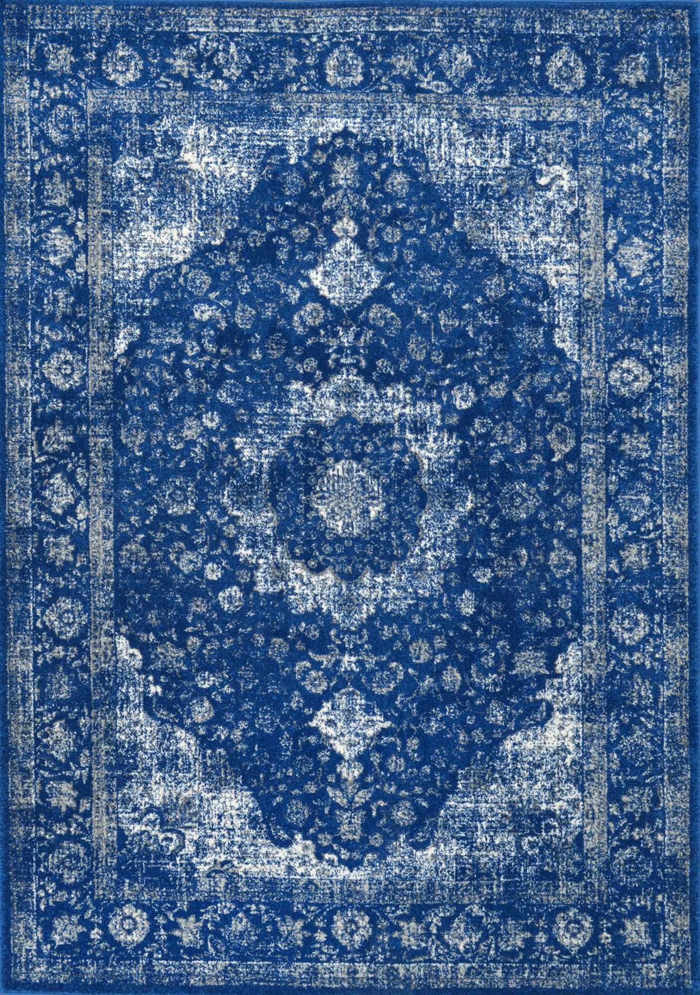 Bosphorus BD07 Distressed Persian Rug Dark Blue 8\'x10\' rectangle ...