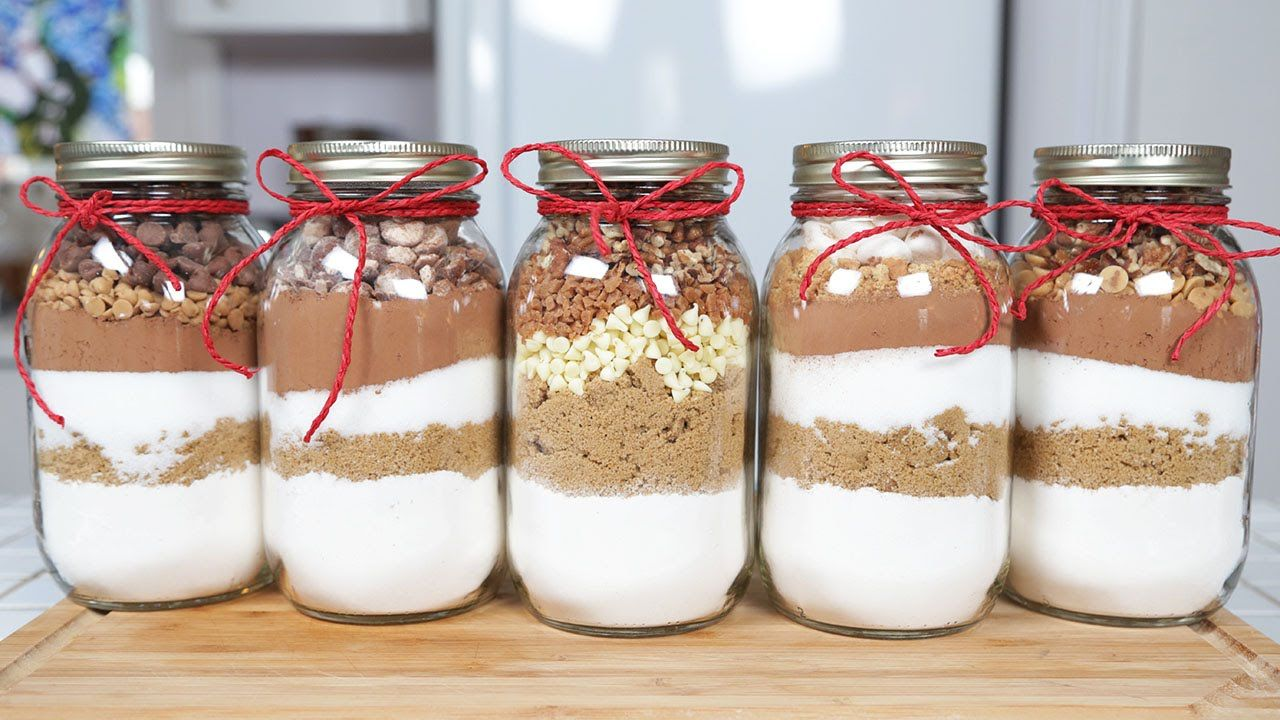 5 Brownie In A Jar Recipes Edible Gifts 5
