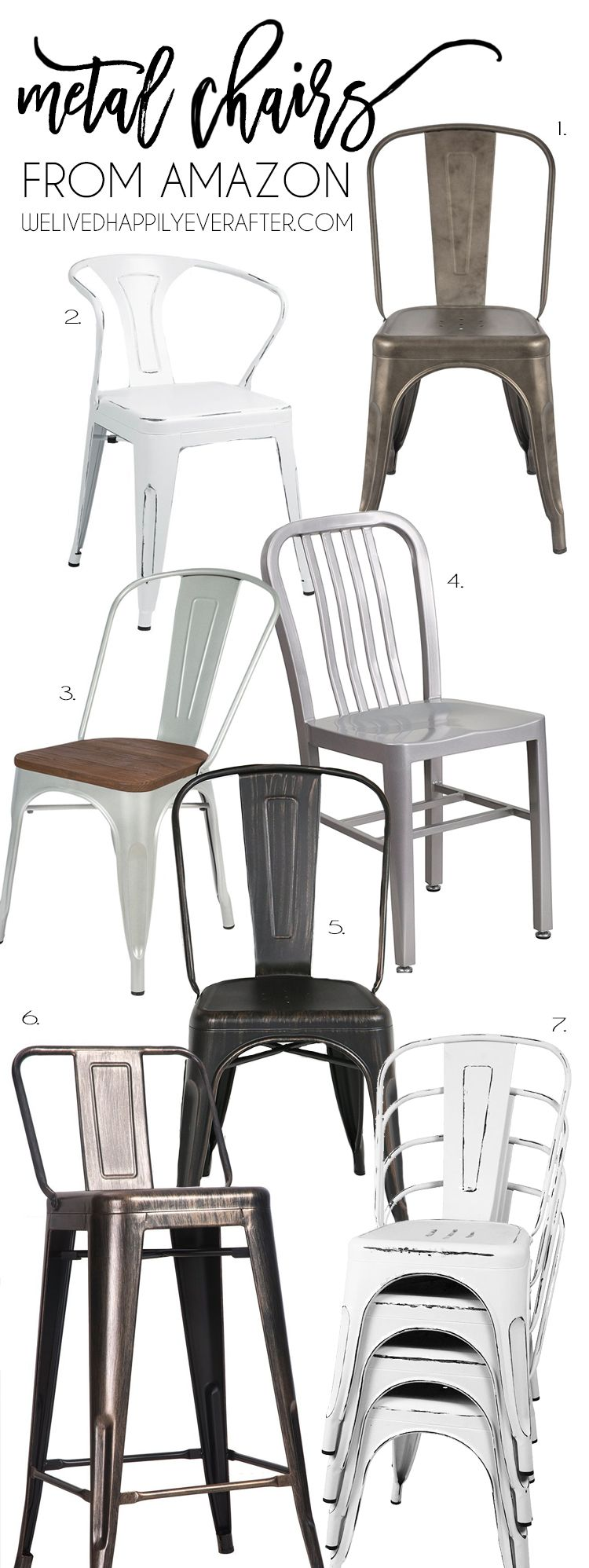 Industrial Farmhouse Fixer Upper Style Metal Chairs From Amazon