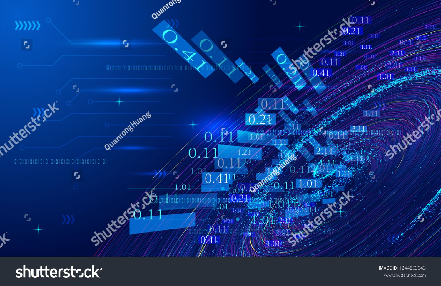 The Background Of Big Data Vector Of Network Technology Is