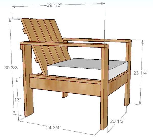 Lounge Chair Dimensions  sc 1 st  Pinterest & How To Build A Simple DIY Outdoor Patio Lounge Chair | Pallet sofa ...