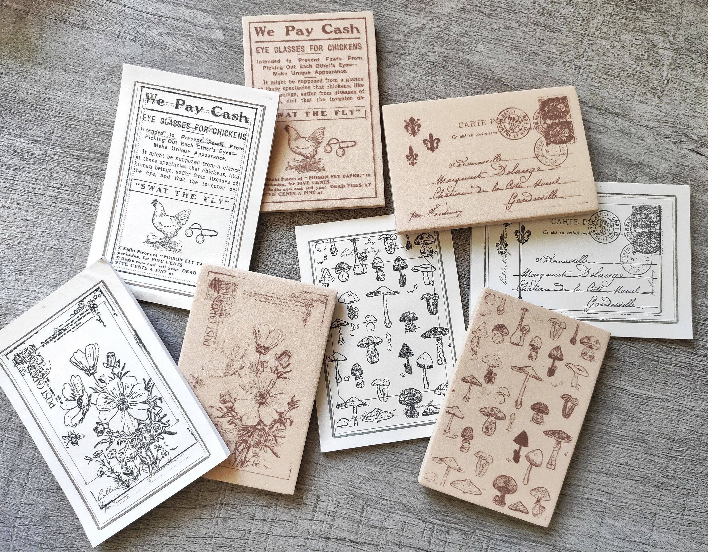 Foam Stamp Set Vintage Mushrooms Letter Flower Rubber Stamp Etsy In 2020 Foam Stamps Scrapbook Journal Custom Calligraphy