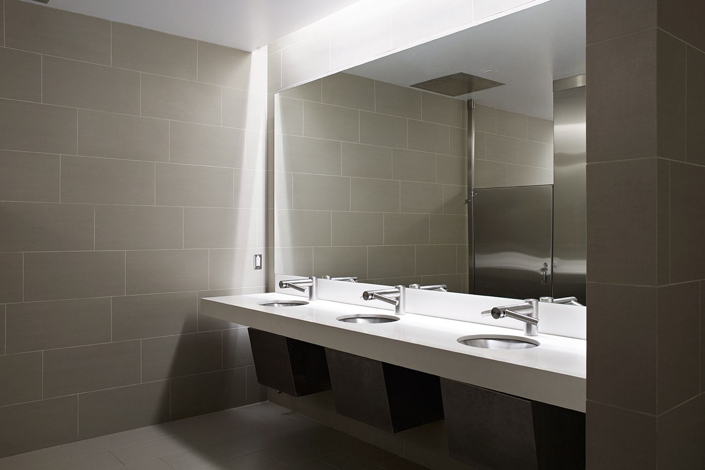 Modern And Contemporary Office Bathroom And Toilet Featuring And