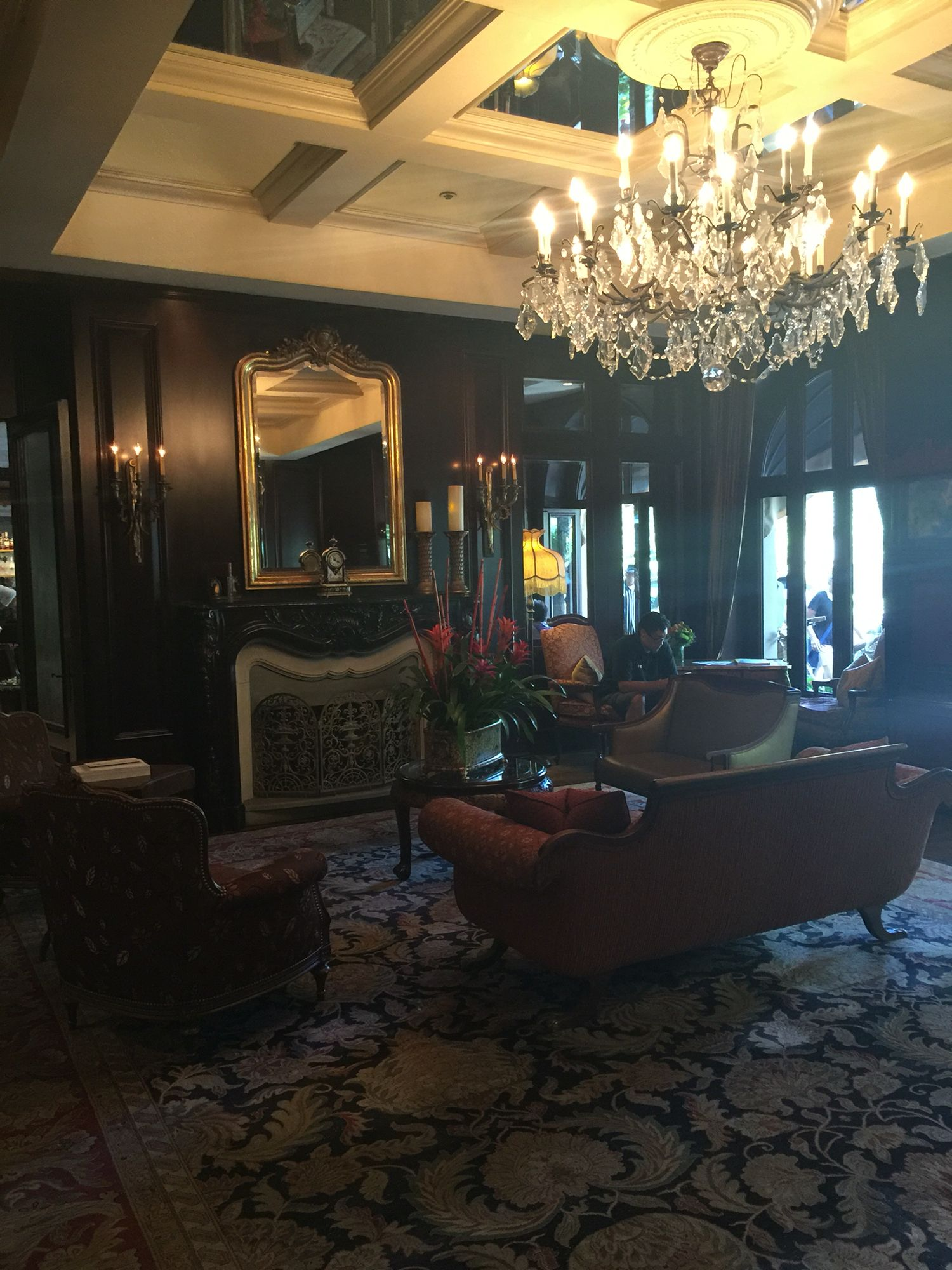 Lobby of Wedgewood Hotel, Vancouver, BC
