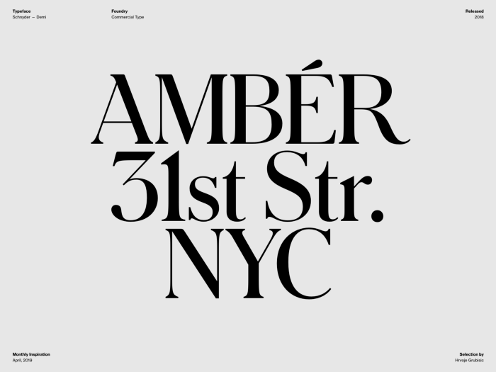Typography Inspiration April 2019 Font Selection Typography Inspiration Typography Graphic Design Fonts