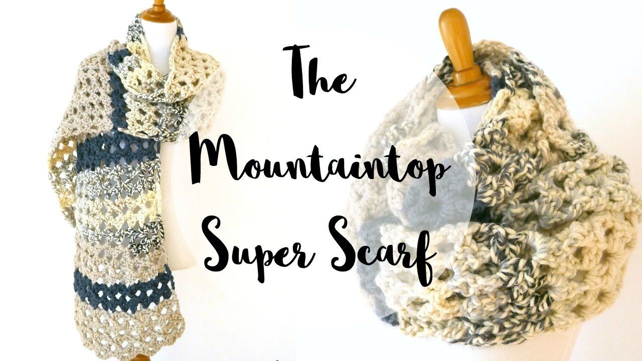 How To Crochet the Mountaintop Super Scarf, Episode 343 | haris ...