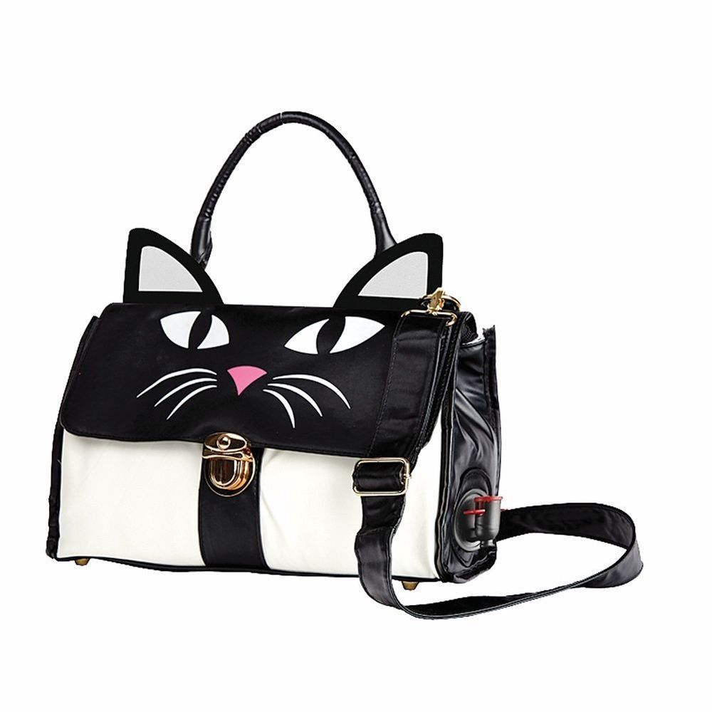 Cat Shaped Wine Cooler Purse Bag Holds 3 Liter Boxes Insulated