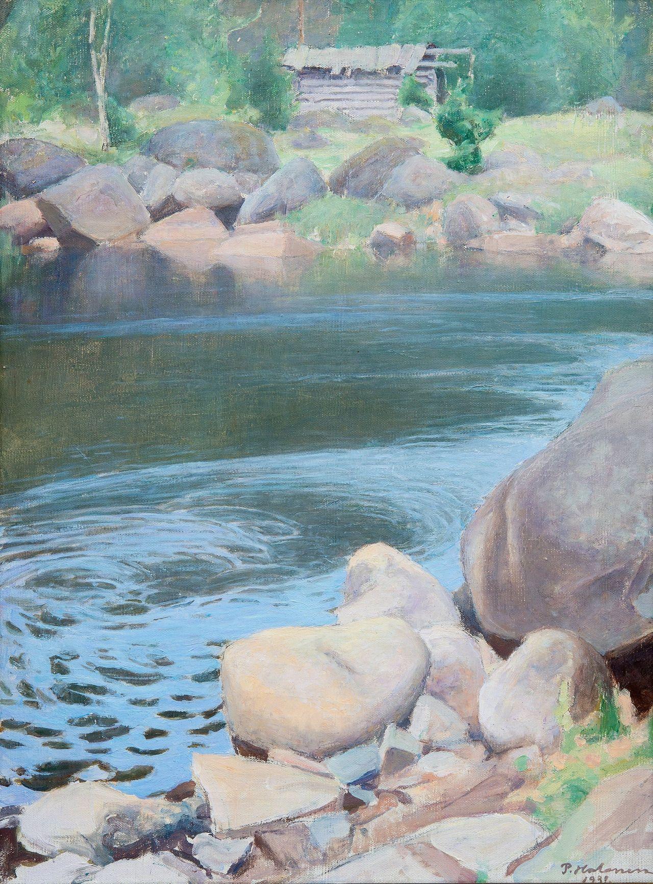 Pekka Halonen (Finnish, 1865-1933), Kotakoski, 1932. Oil on canvas, 73.5 x 54.5 cm.
