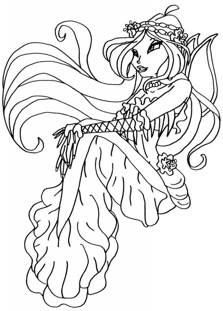 Winx Club As Pixies Colouring Pages