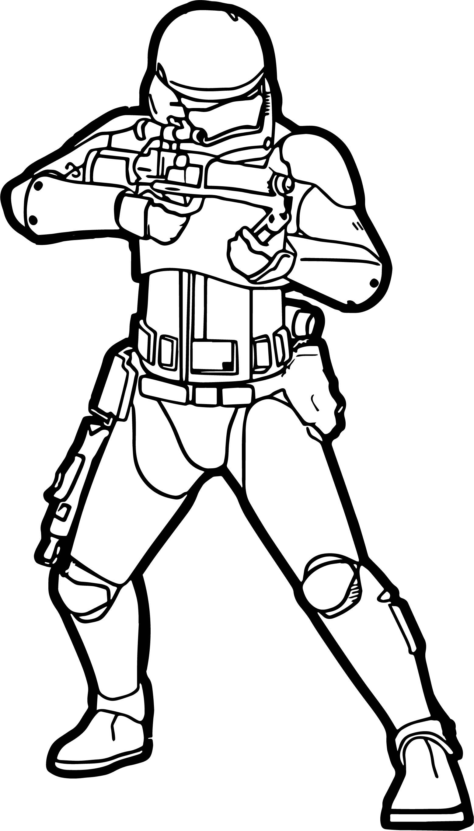 Cool Star Wars The Force Awakens Stormtrooper Coloring Page