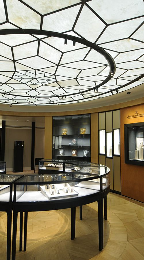 concept SOLO alabaster: ceiling application for Jaeger LeCoultre flagship store in London