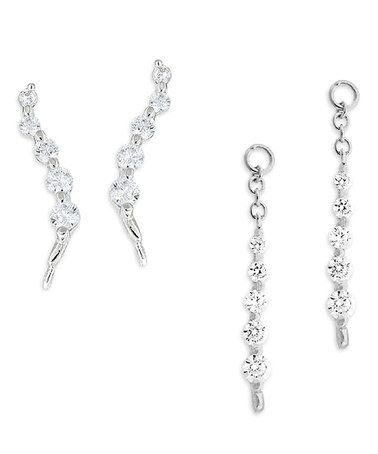 Love this Cubic Zirconia Journey Ear Pin® Earrings & Enhancers on #zulily! #zulilyfinds