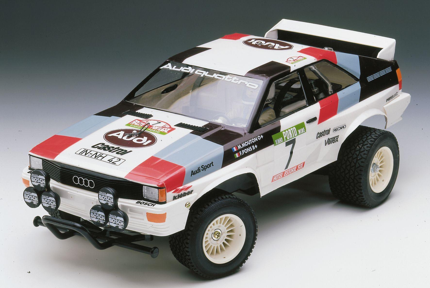 Cars 4 toys  Der coole AUDI Quattro von TAMIYA mit der Artikelnummer